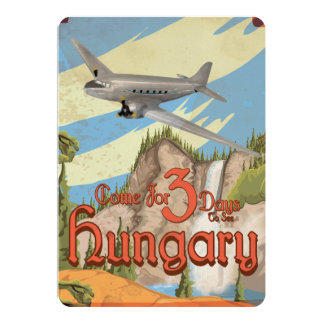 Hungary Vintage Travel Poster Announcements