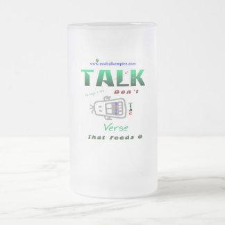 hunger - glass frosted glass mug