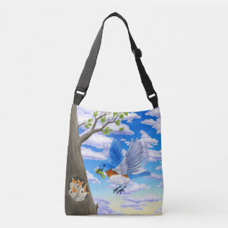 Hungry baby Bluebirds bag