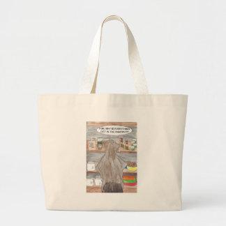 Hungry Beaver Large Tote Bag