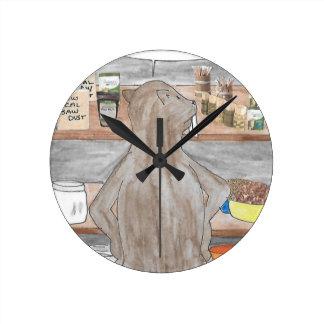Hungry Beaver Round Clock
