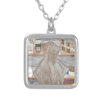 Hungry Beaver Silver Plated Necklace