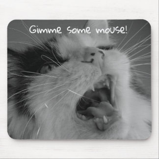 Hungry Cat Mouse Mat