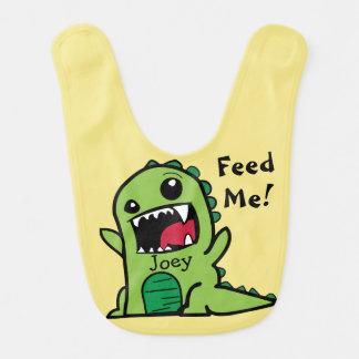Hungry Dinosaur Bib