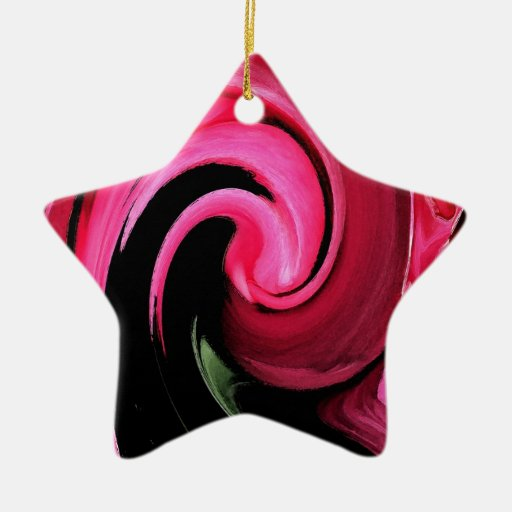 Hungry Diva Damask Rose Collection Christmas Tree Ornaments