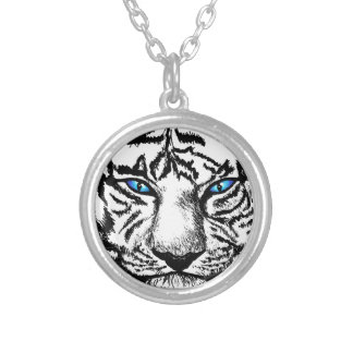 Hungry Eyes Silver Plated Necklace
