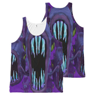 Hungry Fish Tank Top All-Over Print Tank Top