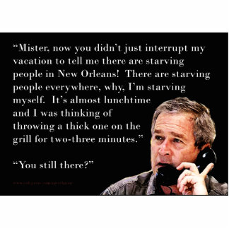 Hungry George W. Bush Photo Cut Out