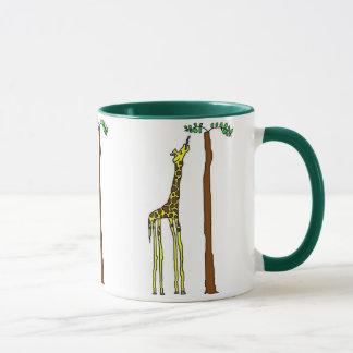 Hungry giraffe mug