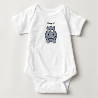 Hungry Hippo Cartoon Baby Bodysuit
