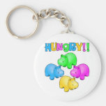 Hungry Hippos Basic Round Button Key Ring