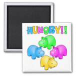 Hungry Hippos Refrigerator Magnets
