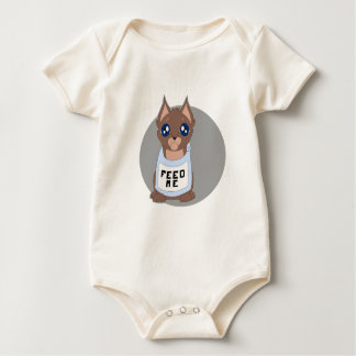 hungry kitty baby bodysuit