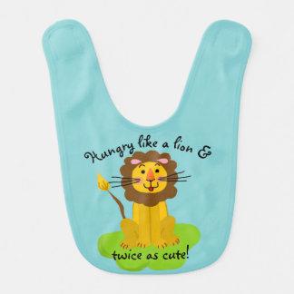 Hungry like a lion & twice as cute! bib
