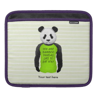 Hungry Panda Wearing A Funny Tshirt Sleeves For iPads