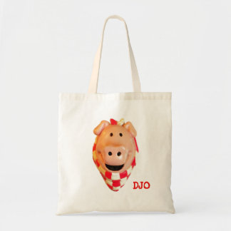Hungry Pig Wants BBQ  Your Initials Tote Bag
