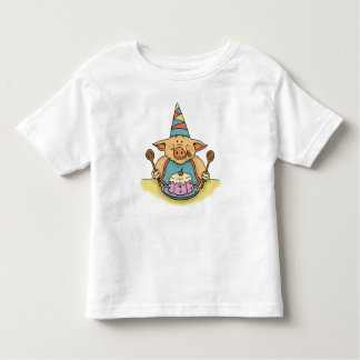 hungry piggy birthday toddler t-shirt