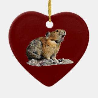hungry pika ceramic heart decoration