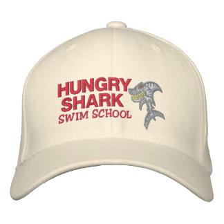 Hungry Shark Swim school Embroidered Hats