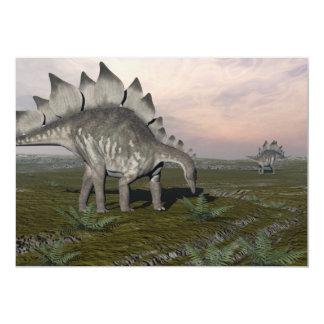 Hungry stegosaurus - 3D render Card