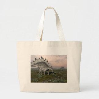 Hungry stegosaurus - 3D render Large Tote Bag