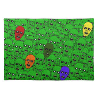 Hungry Undead Zombie Heads Placemat