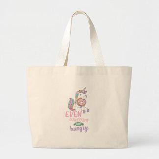 Hungry Unicorns Large Tote Bag