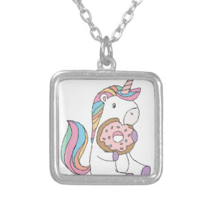 Hungry Unicorns Silver Plated Necklace