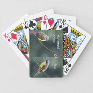 hunkered down or not bird bicycle playing cards