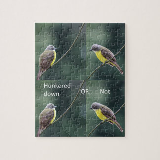 hunkered down or not bird jigsaw puzzle