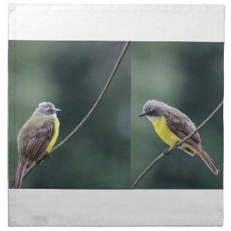 hunkered down or not bird napkin