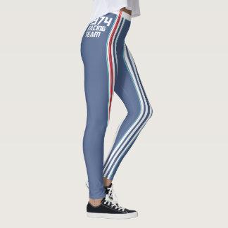 HUNKN'BULL RETRO\CLASSIC –  1974 RACING NAVY\ LEG LEGGINGS