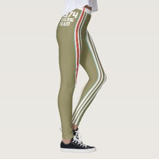 HUNKN'BULL RETRO\CLASSIC –  1974 RACING OLIVE\ LEG LEGGINGS