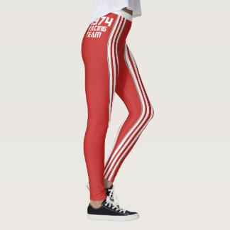 HUNKN'BULL RETRO\CLASSIC –  1974 RACING RED\ LEG LEGGINGS