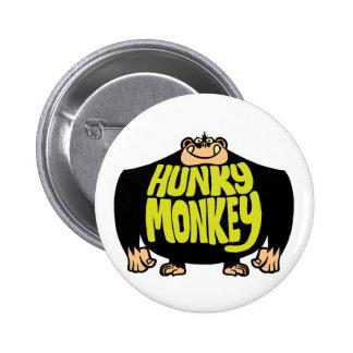 Hunky Monkey 6 Cm Round Badge