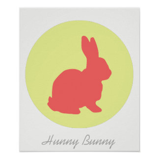 Hunny Bunny Funky A3 Poster