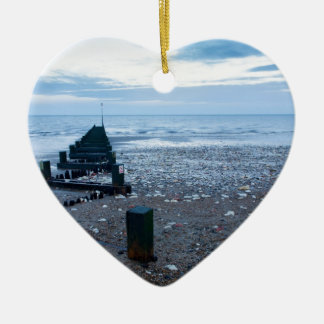 Hunstanton beach, West Norfolk Ceramic Ornament