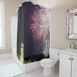 Hunstanton fireworks night 2017 in Norfolk UK Shower Curtain