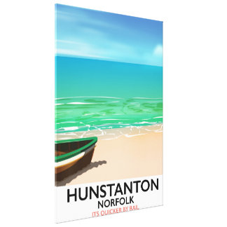 Hunstanton Norfolk Beach travel poster Canvas Print
