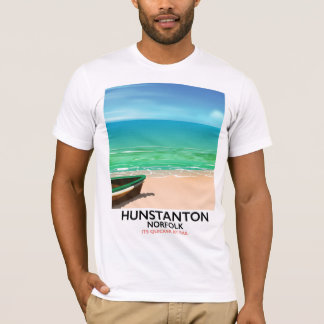 Hunstanton Norfolk Beach travel poster T-Shirt