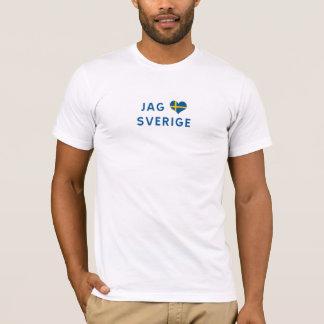 Hunt älskar for Sverige - I love Sweden T-Shirt