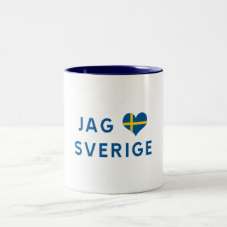 Hunt älskar for Sverige - I love Sweden Two-Tone Coffee Mug