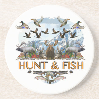 Hunt and fish coaster