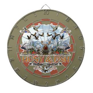 Hunt and fish dartboard
