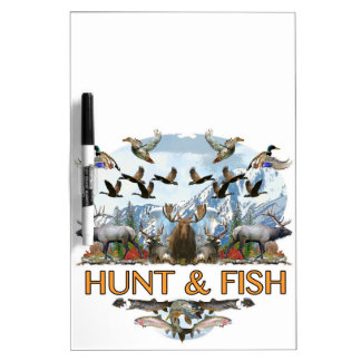 Hunt and fish dry erase board