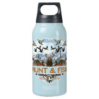 Hunt and fish insulated water bottle