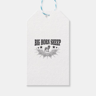 hunt big horned sheep gift tags
