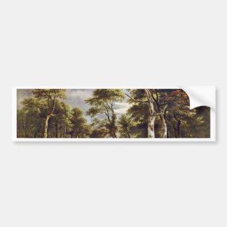 Hunt By Ruisdael Jacob Isaaksz. Van Bumper Stickers