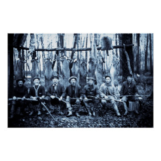 Hunt Club 1911 Vintage Deer Hunters Poster