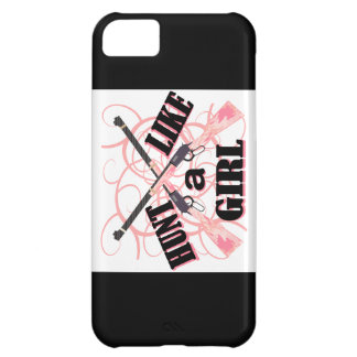 Hunt Like a Girl Pink Camo Rifle iPhone 5C Case